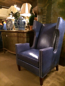 CR Laine's Cromwell chair in blue leather