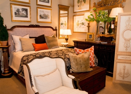 Bedroom furniture, accessories and art